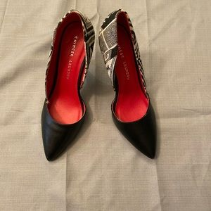 Chinese Laundry White And Black Heels 9.5
